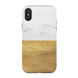 iPhone Xs / X  Marble and Gold by