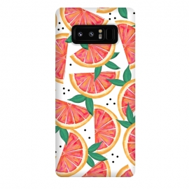 Galaxy Note 8  Citrus Surprise by Uma Prabhakar Gokhale (watercolor, pattern, food, fruit, orange, grape fruit, tropical, citrus, sour, nature, fruit pattern, juicy, delicious, sweet, exotic)