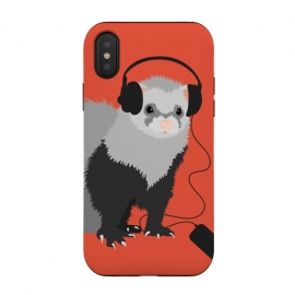 Funny Music Lover Ferret by Boriana Giormova