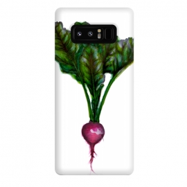 Galaxy Note 8  The Radish by ECMazur  (radish,food,veggies,vegetable,watercolor,pen and ink)
