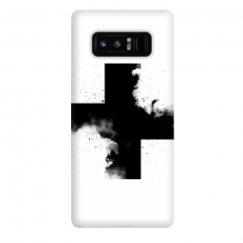 Galaxy Note 8  Across the Shadow by  (Black,white,blackandwhite,plus,cross,across,shadow,sky,clouds,minimal,minimalism)
