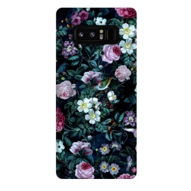 Galaxy Note 8  Blue Night by Riza Peker (floral,roses,vintage,dark,pattern)