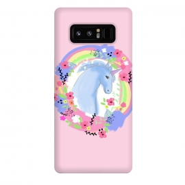 Galaxy Note 8  Pink Unicorn by MUKTA LATA BARUA