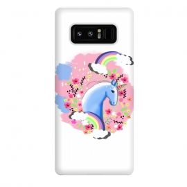 Galaxy Note 8  Floral Unicorn by MUKTA LATA BARUA