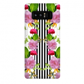 Galaxy Note 8  Spring Garden by Zala Farah (stripes,floral,flora,flower,flowers,flower art,flower pattern,flower collage,flower print,floral print,floral collage,floral art,floral pattern,pattern,collage,art,print,printed,cute,modern,boho,bohemian)