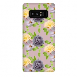 Galaxy Note 8  Springtime Garden by Zala Farah (purple flowers,purple,flowers,flower print,flower pattern,flower art,flora,floral print,floral,floral collage,floral art,nature,nature art,nature pattern,vintage,vintage flowers,vintage floral print,artist,designer,zala02creations)