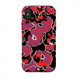 iPhone Xs/X  Poppy by Susanna Nousiainen (poppy,flower,floral,fashion)