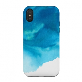 iPhone X  Bluecloud by Susanna Nousiainen (cloud,blue,painted,paint)