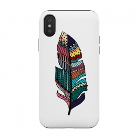 iPhone Xs / X  Feather by Susanna Nousiainen (feather,geo,modern,cool)