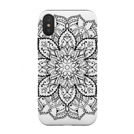 iPhone X  Blackmandala by Susanna Nousiainen (mandala,hippie,indian,festival)