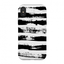 iPhone X  Black stripe by Susanna Nousiainen (stripe,painted,black,handpainted)