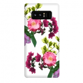 Galaxy Note 8  Colorful Floral Print by Zala Farah (floral,floral print,flower,flowers,flora,floral art,floral collage,flower pattern,flower print,flower art,botanic,pattern,cute,nature print)
