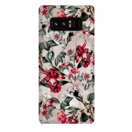 Galaxy Note 8  Botanical Flowers IV by Riza Peker (FLORAL,PATTERN,FASHION,DESIGN,ART)