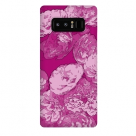 Galaxy Note 8  Rosie by Zala Farah (pink,pink flowers,white flowers,pink print,flower,flowers,flower print,flower pattern,flower collage,flower art,floral,floral print,boho,bohemian,art,floral pattern,floral art,cute,pretty,spring,illustration,zala02creations)