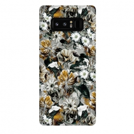 Galaxy Note 8  Floral Gold by Riza Peker (floral,pattern,fashion,design,art,moda,rizapeker)
