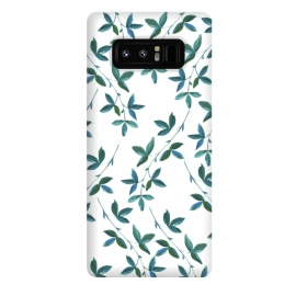 Galaxy Note 8  Green Vines by Zala Farah (floral,leaf,green leaf print,green,art,pretty,nature,illustration,digital painting,watercolor,simple,simple floral print,flowers,leafy,leaves,green leaves,lush,botanic,botanical,zala02creations,zala farah)