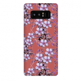 Galaxy Note 8  Inaya by  (abstract flowers,floral,purple flowers,floral collage,floral print,nature,botanic,purple,chic,style,lush,pretty,botanical,botanic nature print,art,artistic nature,exotic,jewels,floral jewels,zala02creations)
