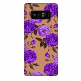 Galaxy Note 8  Rosie Purple Love by Zala Farah (purple,purple flower art,purple flowers,floral print,nature,vintage,vintage flowers,vintage purple flowers,designer floral print,cute,chic,style,art,artistic,love,botanic,botanic art,zala02creations,flower art,flower print,flower collage,print,collage,pattern,colorful,vibrant,cute floral art,purple )