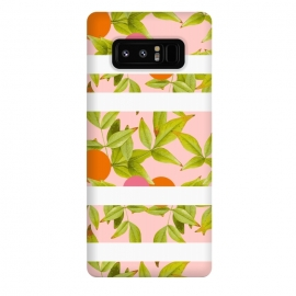 Galaxy Note 8  Rebels by Zala Farah (cute,cute nature,nature,nature art,art,print,pattern,collage,flora,floral,floral print,floral art,floral collage,floral pattern,botanic,botanical,botanic art,white stripes,orange circles,pink circles,geometric,leaf,leafy,leaf print,leaf pattern,leaves,green leaves,zala02creations)