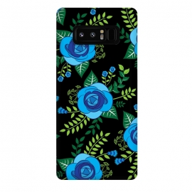 Galaxy Note 8  Blue Roses by Rossy Villarreal