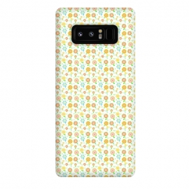 Galaxy Note 8  Tiny Sweeties by Bettie * Blue (flowers, floral, tiny flowers,cute,sweet,happy,colorful,pattern,geometric)