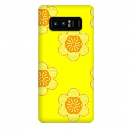 Galaxy Note 8  Flowerama by Bettie * Blue (yellow,bright colors,vintage,retro,groovy,hip,flowers,floral,orange,fun,vibes,throwback,sixties)