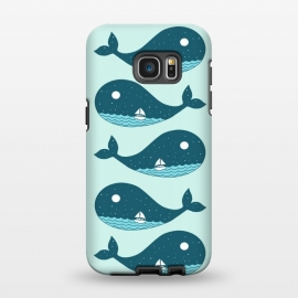 Galaxy S7 EDGE  Whale Landscape 2 by Coffee Man