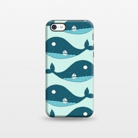 iPhone 5C  Whale Landscape 2 by Coffee Man