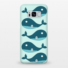 Galaxy S8+  Whale Landscape 2 by Coffee Man (whale,summer,beach,ocean,sea,nature,fun,funny,boat,spring break,animals,pet)