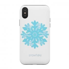 iPhone Xs / X  Snowflake -light blue by  (snowflake,snow, geo,geometric,blue,winter,holidays,light blue,happy)