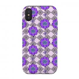 iPhone Xs / X  Purple Shmurple by  (purple,lavendar,flowers,floral,geo,retro)
