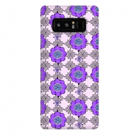 Galaxy Note 8  Purple Shmurple by Bettie * Blue (purple,lavendar,flowers,floral,geo,retro)