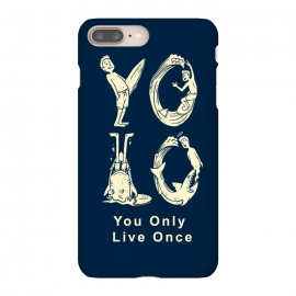 iPhone 8/7 plus  YOLO you only live once by Coffee Man (yolo,you only live once,shark,surf,summer,vacation,spring break,ocean,sea,lettering,fun,funny)