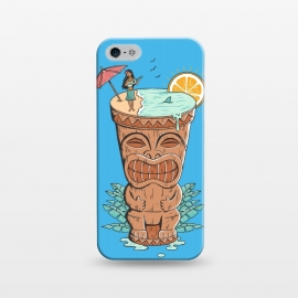 iPhone 5/5E/5s  Tiki Drink by Coffee Man (tiki,drink,vacation,hawaii,summer,spring break,sun,beach,sea,ocean,aloha,fun,funny,gods)