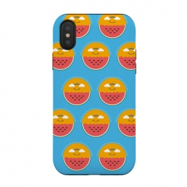 iPhone Xs / X  Sun and Watermelon pattern by Coffee Man (sun,watermelon,beach,rainbow,clouds,nature,landscape,funny,cute,adorable,summer,springbreak,marine)