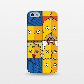 iPhone 5/5E/5s  Yellow Cubism by Coffee Man (yellow,funny,humor,geek,nerd,tv show,cubism,family,donut,geometric,cartoon)