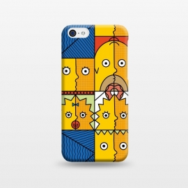 iPhone 5C  Yellow Cubism by Coffee Man