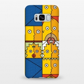 Galaxy S8+  Yellow Cubism by Coffee Man (yellow,funny,humor,geek,nerd,tv show,cubism,family,donut,geometric,cartoon)