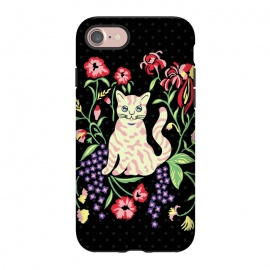 iPhone 8/7  Cutie Cat with Flowers by Michael Cheung