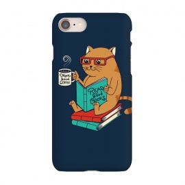 iPhone 8/7  Cat drink good coffee read good books by Coffee Man