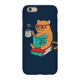 iPhone 6/6s  Cat drink good coffee read good books by Coffee Man