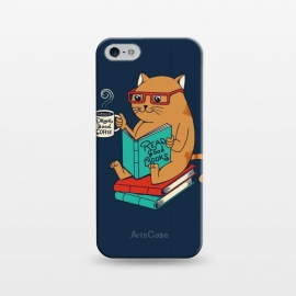 iPhone 5/5E/5s  Cat drink good coffee read good books by Coffee Man