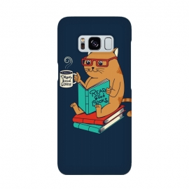 Cat drink good coffee read good books by Coffee Man (cat, catas,read, books, coffee, coffee lovers,animals,cute, adorable,funny,pet, pets lover,kitty,nerd,cat lady)