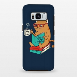 Galaxy S8+  Cat drink good coffee read good books by Coffee Man