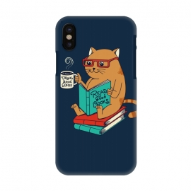 iPhone X  Cat drink good coffee read good books by Coffee Man