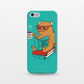 iPhone 5/5E/5s  Cat coffee and books by Coffee Man