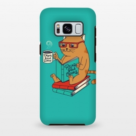 Galaxy S8 plus  Cat coffee and books by