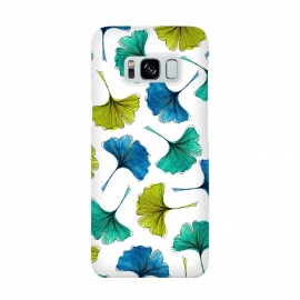 Ginkgo Flush by Amaya Brydon (ginkgo,botanical,pattern,nature,aqua,green,blue,leaves)