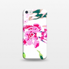 iPhone 5C  Trouvaille by Uma Prabhakar Gokhale (floral, pink, green, white, minimal, light, blue, teal, nature, blossom, bloom, exotic, petals, botanical, plant)