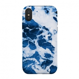 iPhone Xs / X  Island Vibes by  (color, digital manipulation, ocean, island, water, waves, summer, swim, beach, tropical, exotic, travel, paint effect, paint filter, blue, navy blue, deep blue)